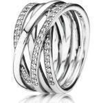 Pandora 190919CZ Ring Funkelnde Bänder Silber Gr. 50