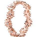 Pandora Garden Ring 188799C01 Sparkling Daisy Flower Crown Stackable Rose Klare Zirkonia 18