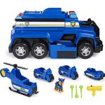 PAW Patrol 6058329 5-in-1-Polizeifahrzeug von Chase - 4 Mini Fahrzeuge plus Polizeicruiser plus Chase Figur
