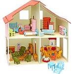 PEBARO Holzbausatz Puppenhaus + Möbel 40 x 37 cm