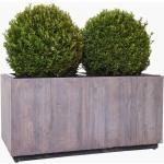 Pflanzkübel Pflanztrog Recycling Holz 'Maxi', Antik Weiß