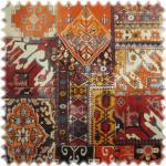 polstereibedarf-online Samt Velours Möbelstoff Orient Orange mit Fleckschutz