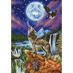 Pracht Creatives Hobby GmbH Diamond Dotz DD12-028 Wolf, ca. 47 x 67 cm groß, Diamond Painting, Malen