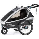 Qeridoo Kidgoo2 Pro Dunkelgrau mit Buggy- und Joggerfunktion inkl. 14'' Joggerrad, LED-Rücklicht, Scheibenbremse
