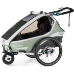 Qeridoo Kidgoo2 Pro Mint mit Buggy- und Joggerfunktion inkl. 14'' Joggerrad, LED-Rücklicht, Scheibenbremse