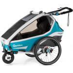 Qeridoo Kidgoo2 Sport Petrol mit Buggy- und Joggerfunktion, inkl. LED Batterierücklicht, Universalkupplung