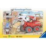 Ravensburger Rahmenpuzzle Mein Bagger 15 Teile