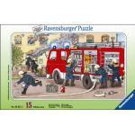 Ravensburger Rahmenpuzzle Mein Feuerwehrauto 15 Teile