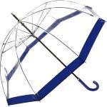 Regenschirm Glockenschirm transparent durchsichtig blau