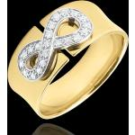 Ring Unendlichkeit - Gelbgold und Diamanten - 9 Karat