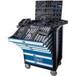 Scheppach TW1100 Werkstattwagen bestückt Werkzeugwagen gefüllt Werkzeugkasten