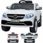 SIMRON - Mercedes-Benz GLE63s GLE 63s AMG SUV 12V Elektro Kinderauto elektrisch Kinder Elektroauto mit Fernbedienung und öffnenden Türen Weiss