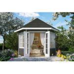 Skan Holz Holz-Pavillon Almelo Schiefergrau farbbehandelt 350 cm x 303 cm