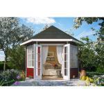 Skan Holz Holz-Pavillon Almelo Schwedenrot farbbehandelt 350 cm x 303 cm