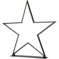 Sompex Tischleuchte LED - Lucy Weihnachtsstern schwarz, H 50 cm