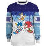 Sonic the Hedgehog Skiing Xmas Pullover (XL) (Merchandise)