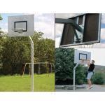 Streetballanlage ROBUST, 165 cm Grau, verzinkter Stahl Ausladung 165 cm, 95 kg Grau