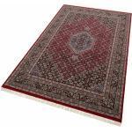THEKO Orientteppich »Benares Bidjar«, rechteckig, 12 mm Höhe, reine Wolle, handgeknüpft, mit Fransen, Wohnzimmer rot