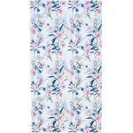 twentyfour Strandtuch Case Flowers Weiß/Blau/Pink Baumwolle 90x180 cm (BxT)
