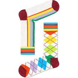 Übergröße : Happy Socks, Socken mit Muster in Weiss für Herren