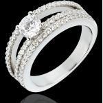 Verlobungsring Schicksal - Herzogin - zentraler Diamant 0.5 Karat - 67 D