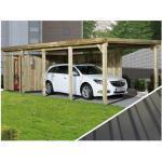 Weka Carport 617 Gr. 3, mit PVC-Kunststoffdach, Hellbraun