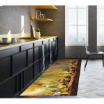 Olivgrüne Moderne Küchenteppiche