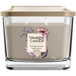 Yankee Candle Aromatische Kerze mittleres Quadrat Sonnenlicht Sande 347 g